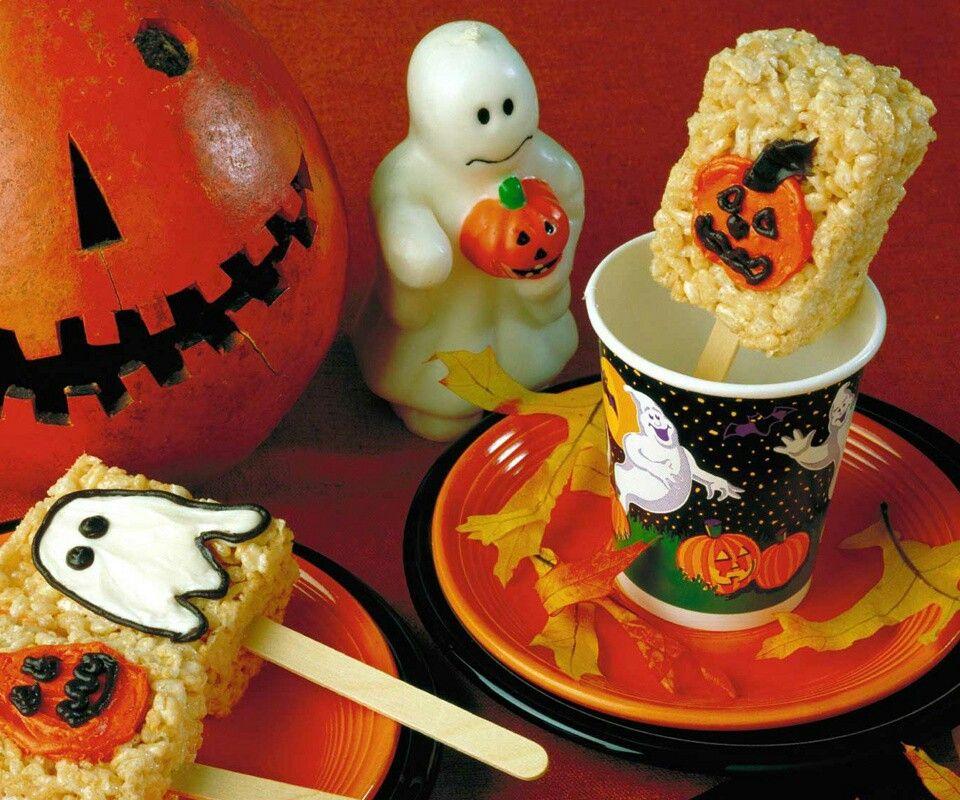Cute Halloween rice crispy treats ideas food Pinterest