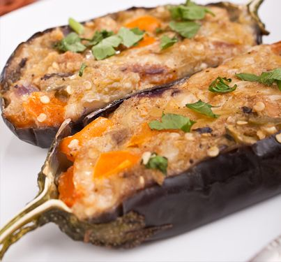 Easy bacon pieces recipes for eggplant