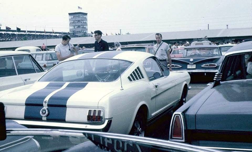 Indy 500 parking… 1965 Indianapolis, Indy 500, Shelby gt