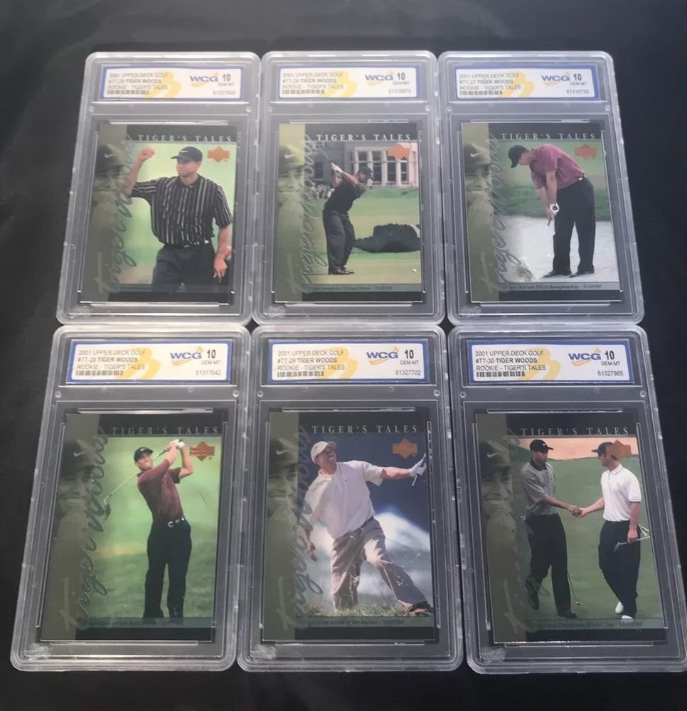 2001 Upper Deck Golf Tiger Woods Rookie Tigers Tales Tt