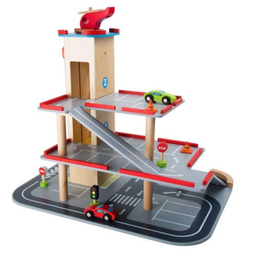 Legler de madera para ninos car parking garage set de juego ninos juguetes de madera ni os - Parking de madera ...