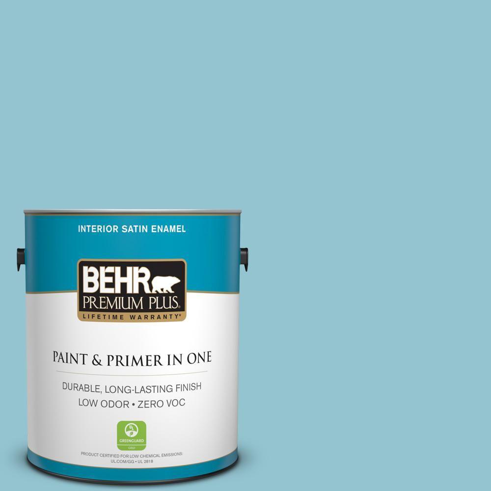 Superior #520E 3 Velvet Morning Satin Enamel Zero VOC Interior Paint And Primer In  One 740001   The Home Depot