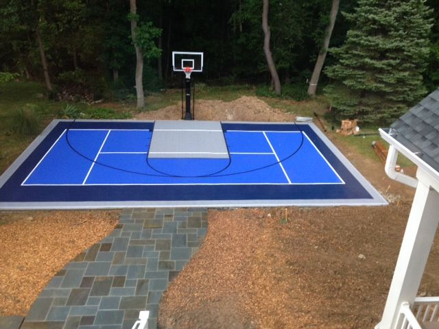 A Snapsports Multi Court With Bounce Back Tiles In Washington Dc With A Proformance Hoops Proview 554 Basketball G Backyard Sports Backyard Outdoor Landscaping