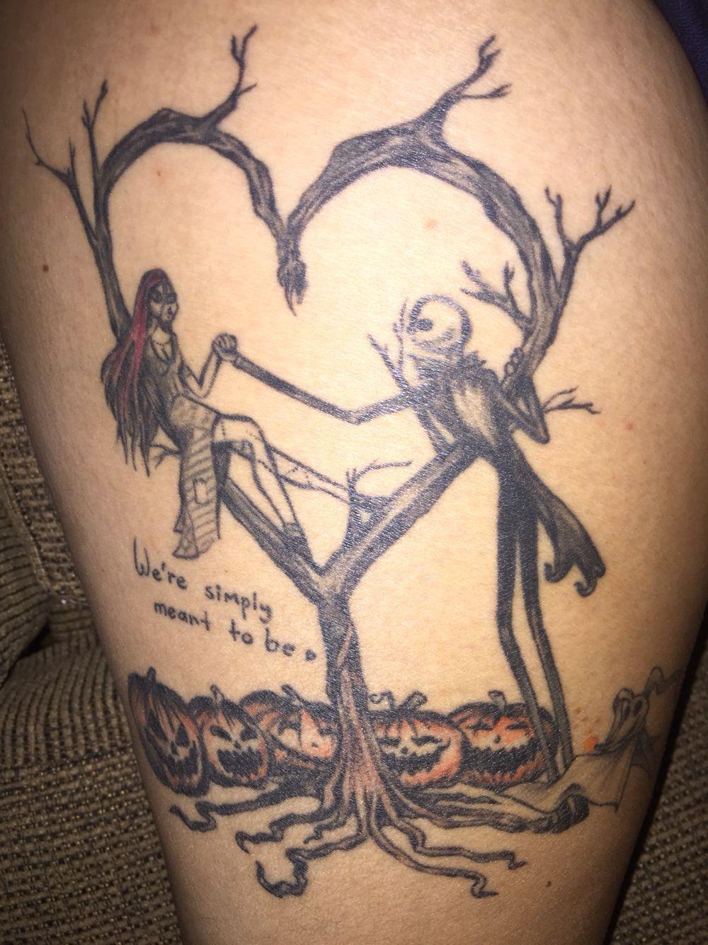 My personal Nightmare before Christmas tattoo | Tattoos | Pinterest ...