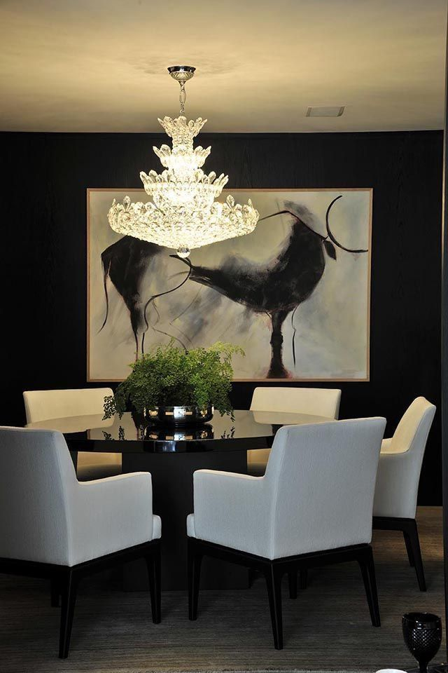 Fabulous black and White dining room