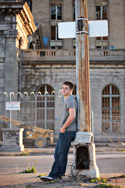 Senior Pictures At Michigan Central Station In Detroit With Joe Senior Photos Guy Photography Senior Pictures Senior Pictures