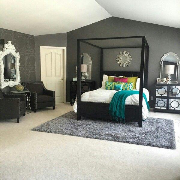 Contempo Trellis Wall Stencil Master bedroom, Bedrooms and