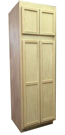 7 Utility Cabinet Unfinished Oak 7 X 30 X 24 Family Room