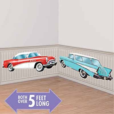 Classic cars 50s scene setter add ons 673107 00g 50s party party world party supplies in tacoma birthday wedding cake decor junglespirit Gallery