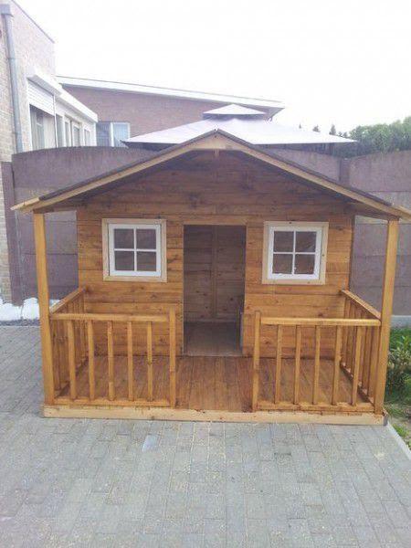 Como hacer una casita de madera play house pinterest - Como construir una casa para ninos ...