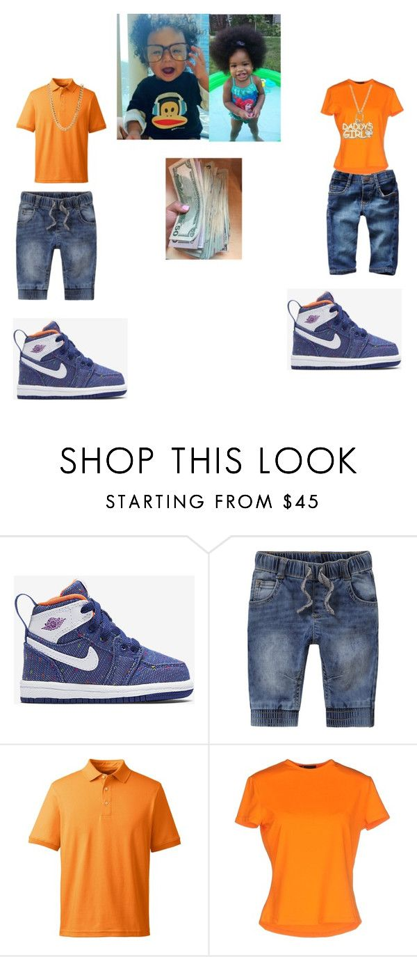 """""""Brother & sister """" by qveennaenae ❤ liked on Polyvore featuring beauty, NIKE, Levi's and Lands' End"""