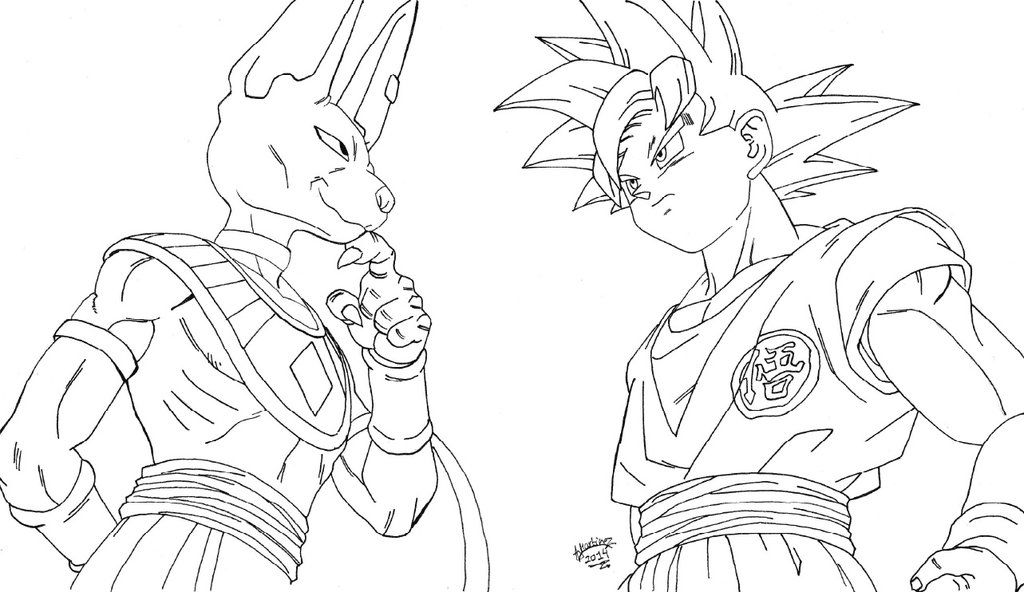 Dragon Ball Z Battle Of Gods Coloring Pages Dragon Ball Z Tv