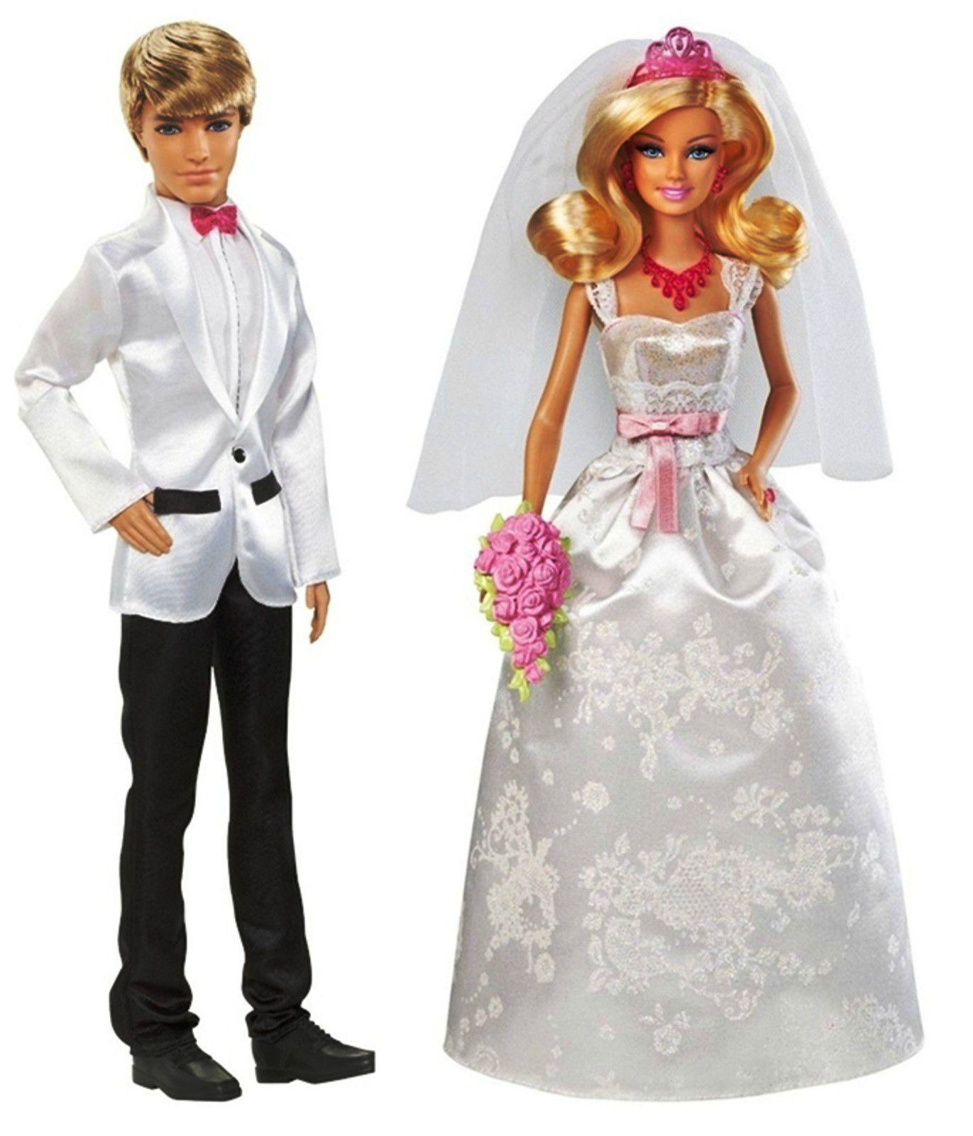 "Mattel X9444 + W2864 Barbie ""Brautpaar Barbie + Ken "" 2 Puppen- Braut+Bräutigam   eBay"
