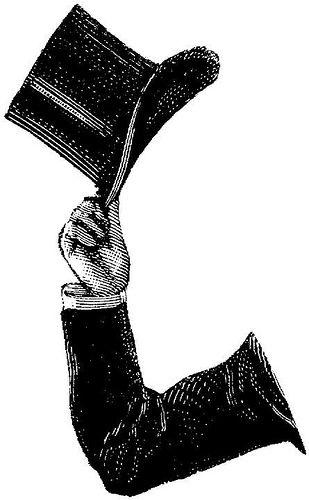 Clipart Arm Tophat Clip Art Vintage Victorian Illustration Vintage Illustration
