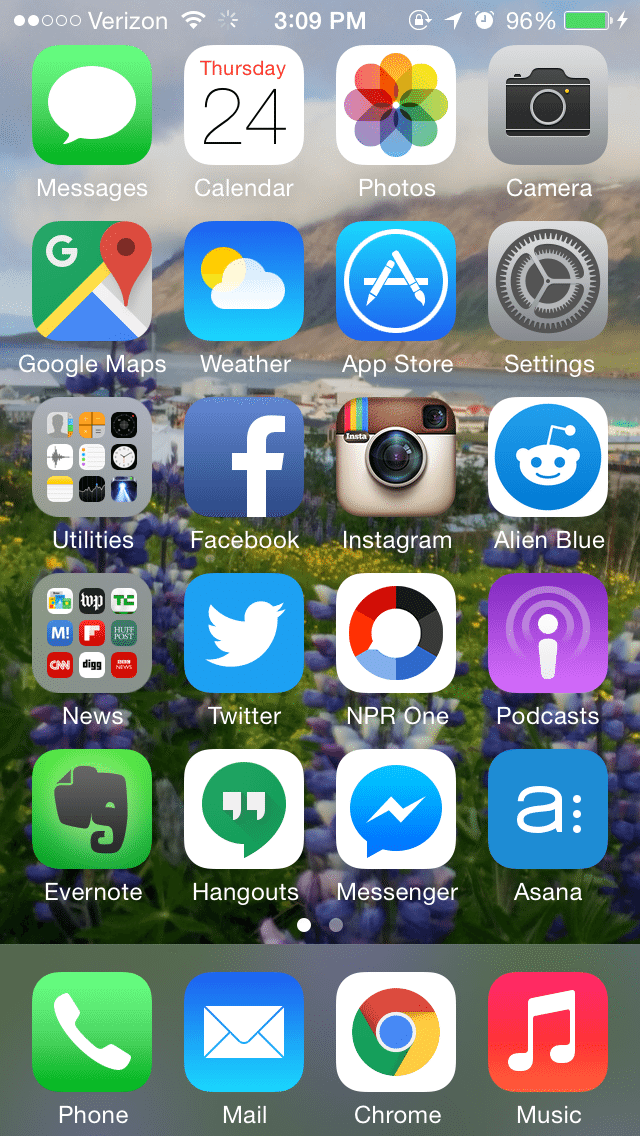 Cell Phone Home Screen Layout Iphone Layout Pinterest