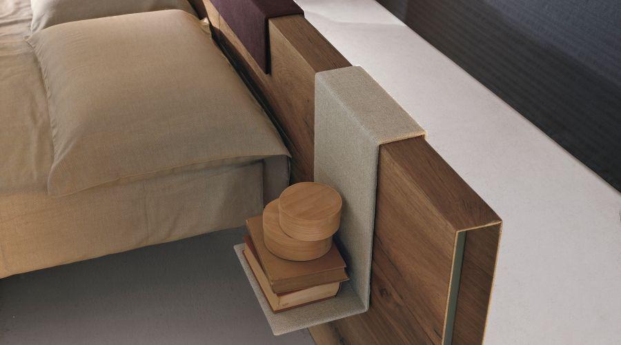 Wooden floting double bed FLUTTUA WILWOOD by Lago design Daniele ...