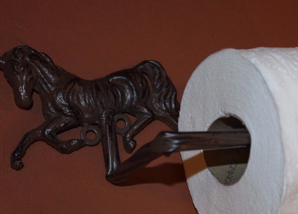 1PC COUNTRY WESTERN TOILET PAPER HOLDER RUSTIC HOLDERBA