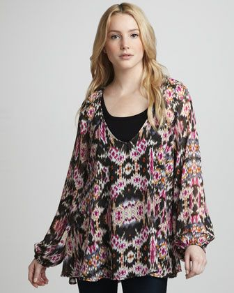 Chelsey Printed Top - Neiman Marcus