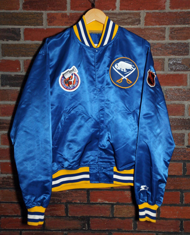 Vintage 90 S Buffalo Sabres Starter Satin Jacket Sz L Vintage Sportswear Jackets Satin Jackets [ 1500 x 1210 Pixel ]