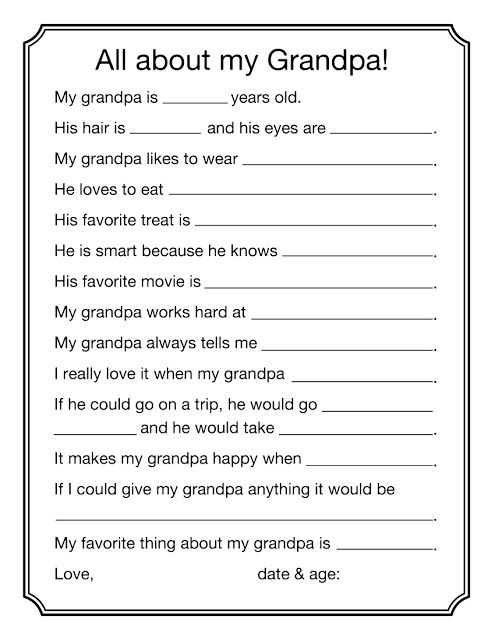 picture relating to All About Grandpa Printable called all more than grandpa pdf #totally free #printable #fathersday