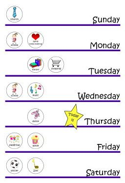 Preschool Calendar And Buttons  Hih Conversations