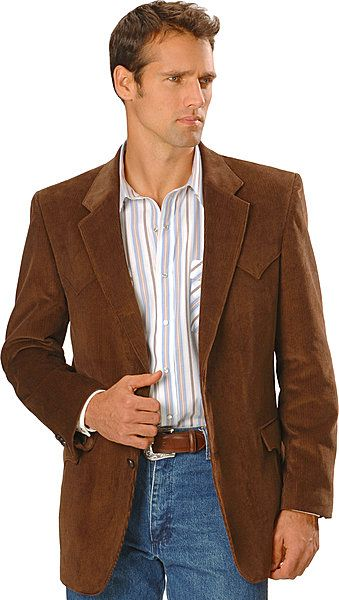 Western Style Brown Corduroy Sports Coat With Jeans Sports Coat And Jeans Corduroy Sport Coat Western Sport Coat