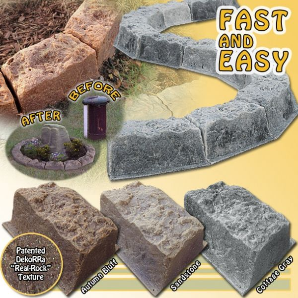 Realistic Faux Stone Border Edging Blocks With Images 400 x 300