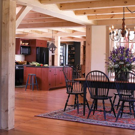 Early New England Homes Timber Framed Ceiling Wide Pine