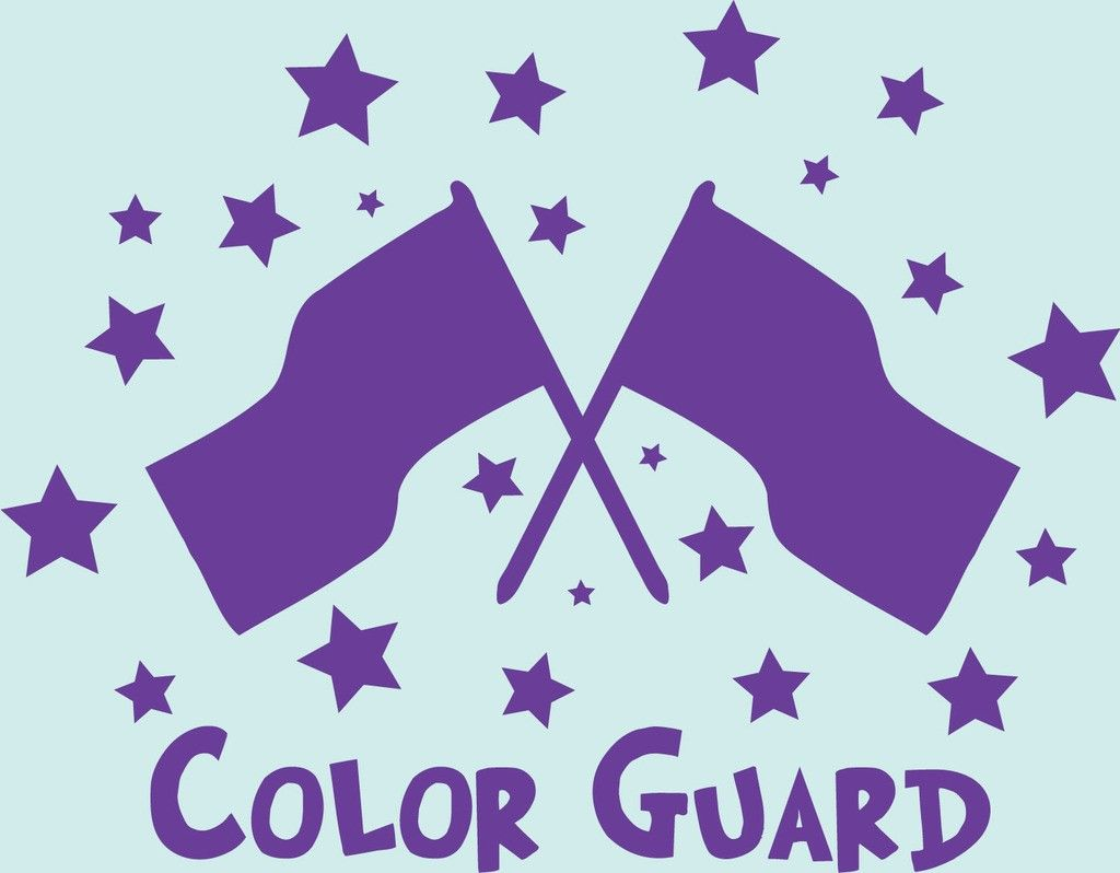 color guard Color guard in a team context is an activity with military origins, for which flags, mock rifles, sabers, and dance movement are used to interpret music from a marching band.