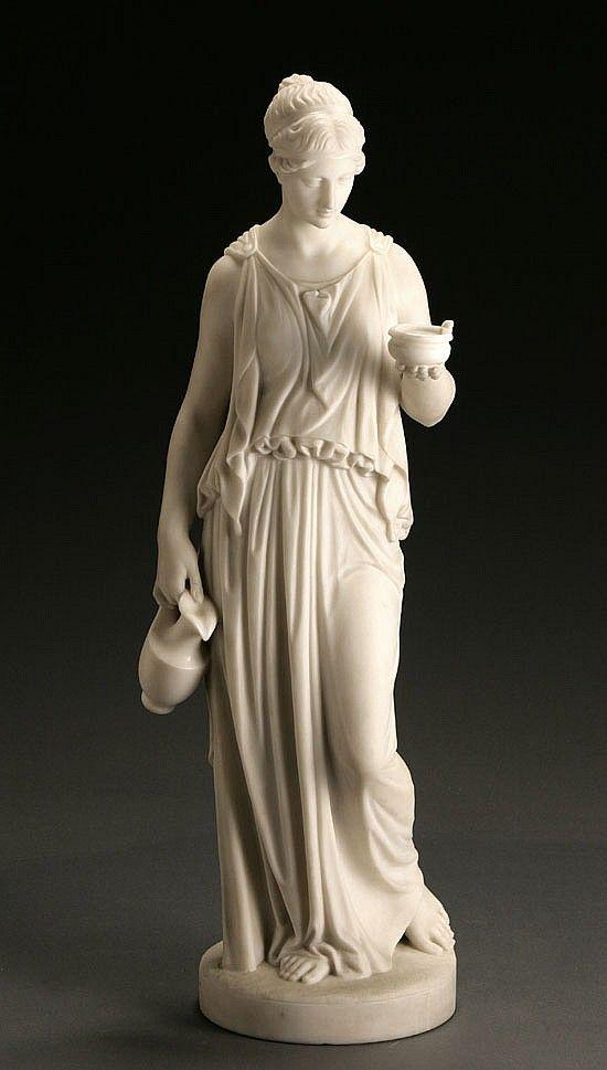 <b>Pietro Bazzanti (Italian 1825-1895)</b> <br  /> <b><i>Hebe</i></b> <br  /> Signed <i>P Bazzanti</i> and located <i>Firenze</i> on base <br  /> Marble sculpture <br  /> <i></i>Height: <i>32 in (81.3 cm)</i>