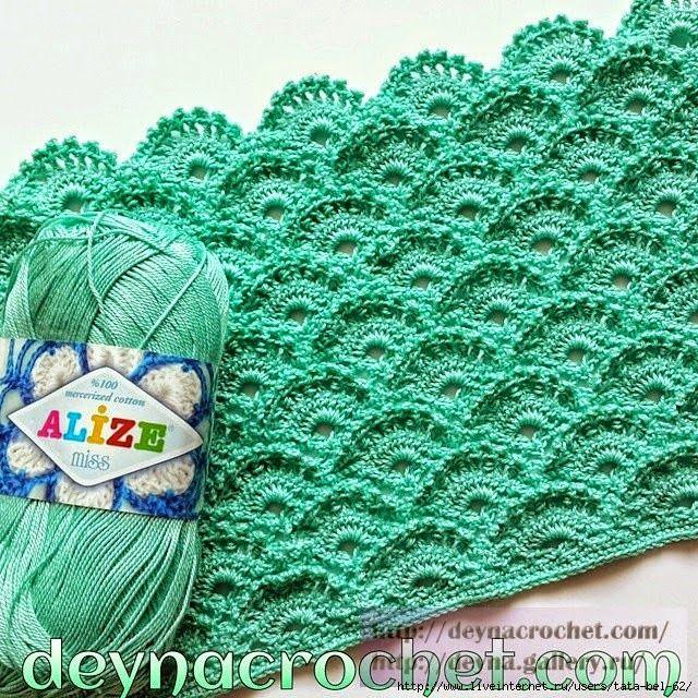 Patron punto ondas con ganchillo | Crochet patterns | Pinterest ...