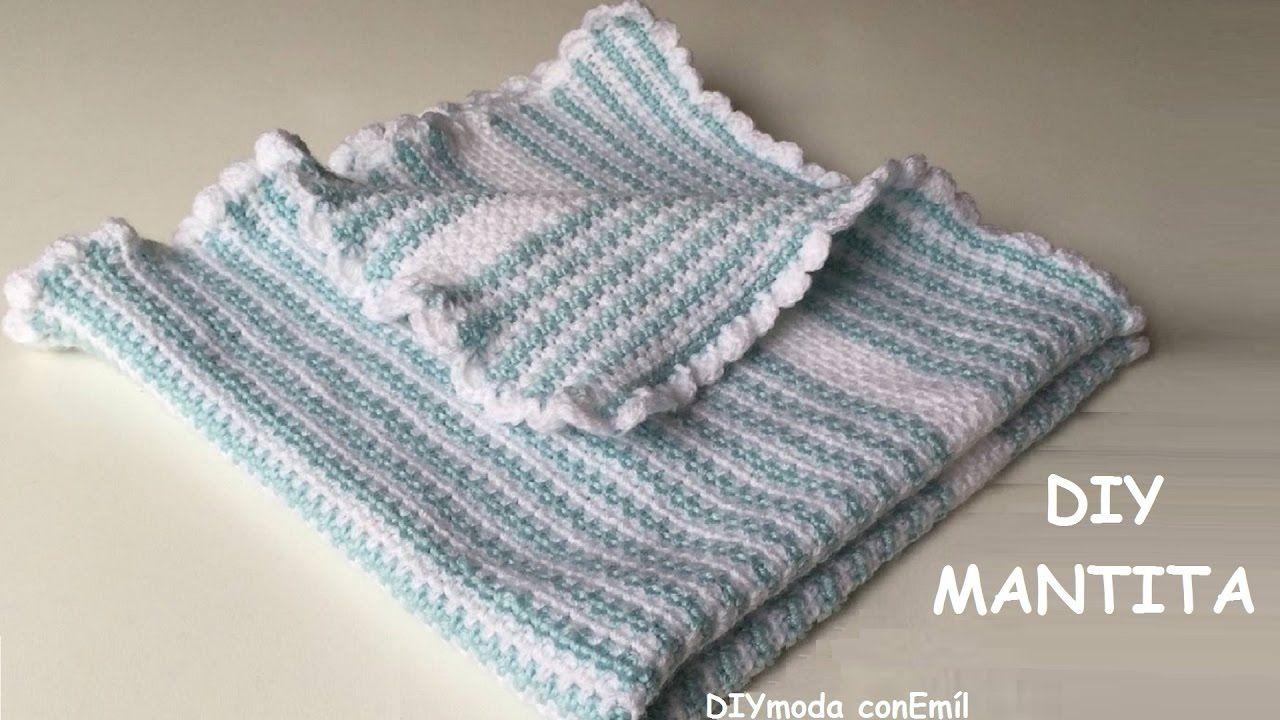 Cómo hacer Mantita o Colchita de bebe en crochet para principiantes ...