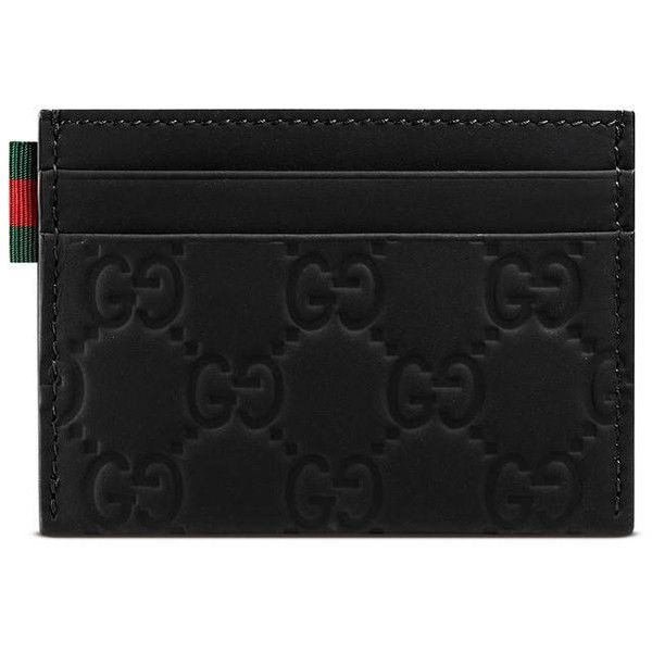 51eef58bbca5 Rubber Guccissima Card Case featuring polyvore women's fashion bags wallets  black gucci mens wallet mens card case wallet mens wallets mens card holder  ...