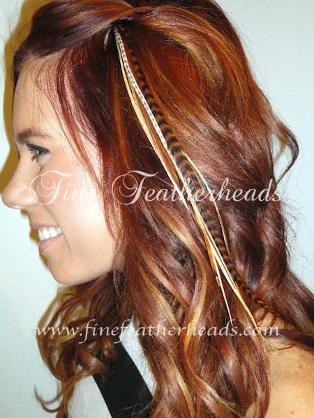 feather hair extensions? i dont know if i like them or not...