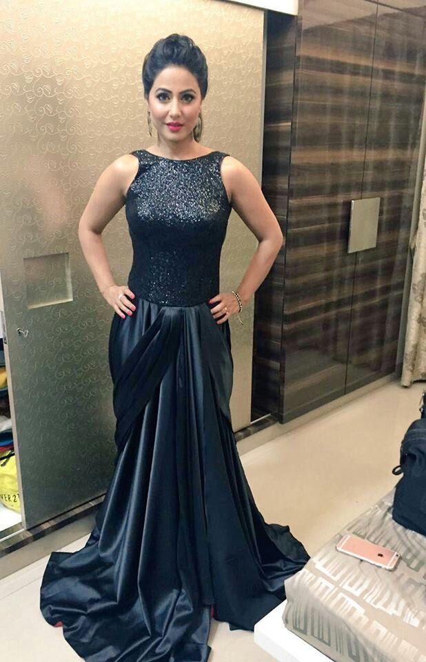 Hina Khan In Gold Awards Eyehinakhan In 2019 Heena Khan Indian