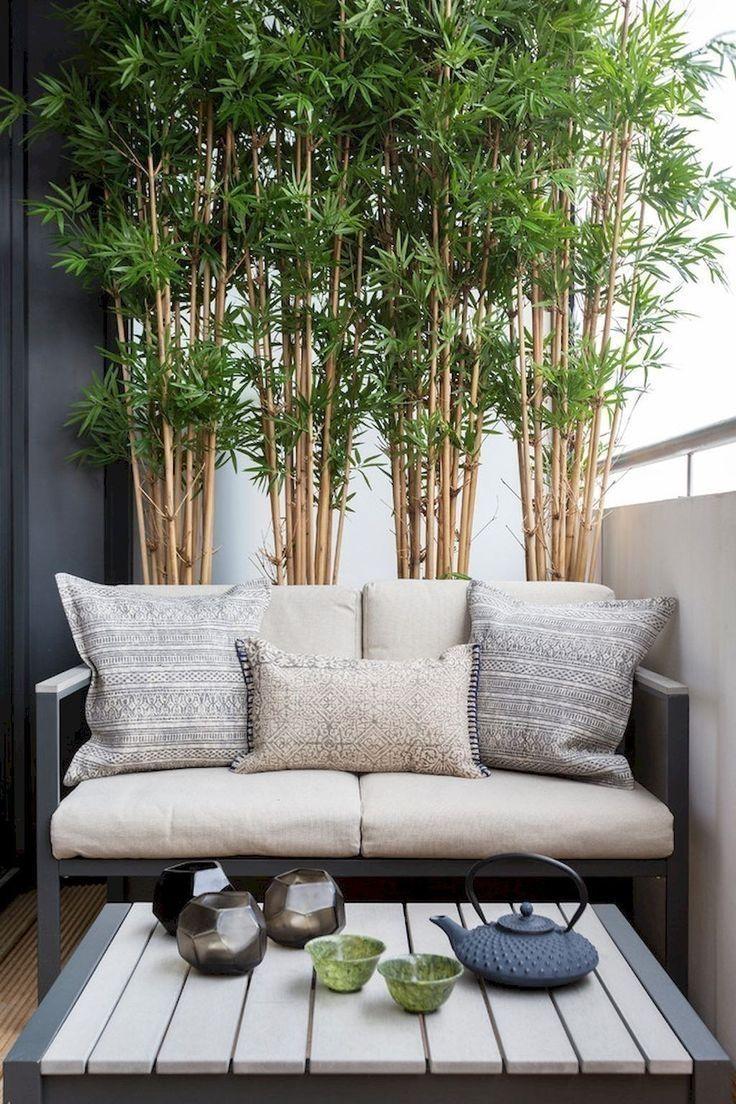 41 Creative Diy Small Apartment Balcony Garden Ideas #balconyprivacy bamboo for ...