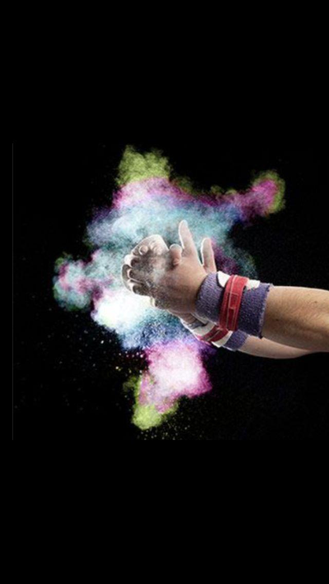 Colorful Chalk Cloud Gymnastics Wallpaper Gymnastics Backgrounds Gymnastics Photography