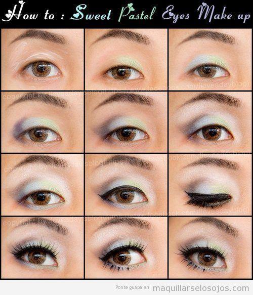 Maquillaje para ojos peque os aprende c mo agrandarlos - Como maquillarse paso a paso ...