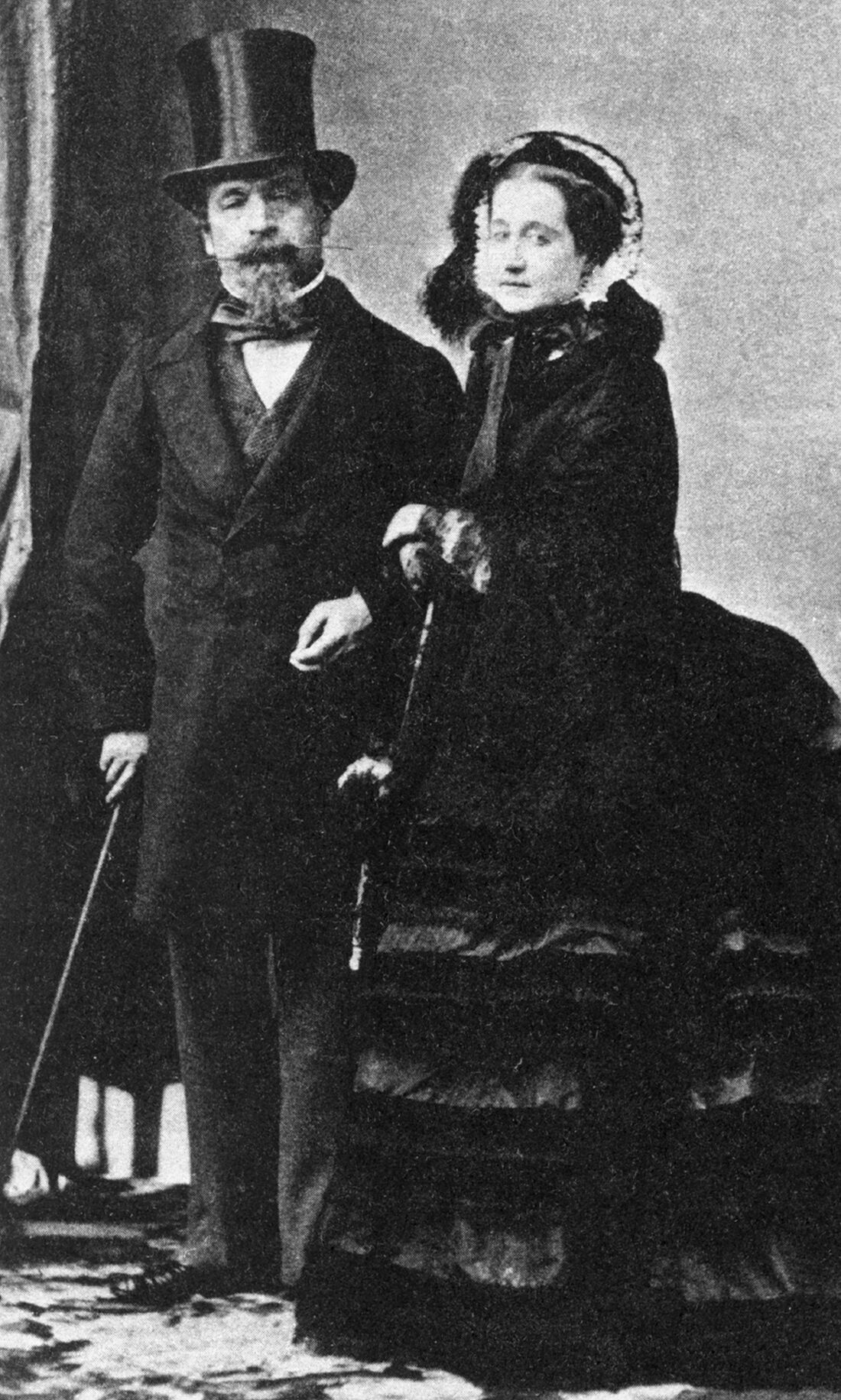 1860 Empress Eugénie and Napoleon III by Andre Adolphe Eugene Disderi | Grand Ladies | gogm