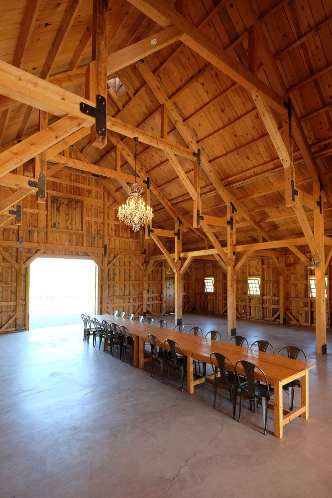 High Open Ceilings Paired With Post Beam Construction Makes For A Beautiful Wedding Venue Wedding Floor Plan Barn Style House Barn House Plans
