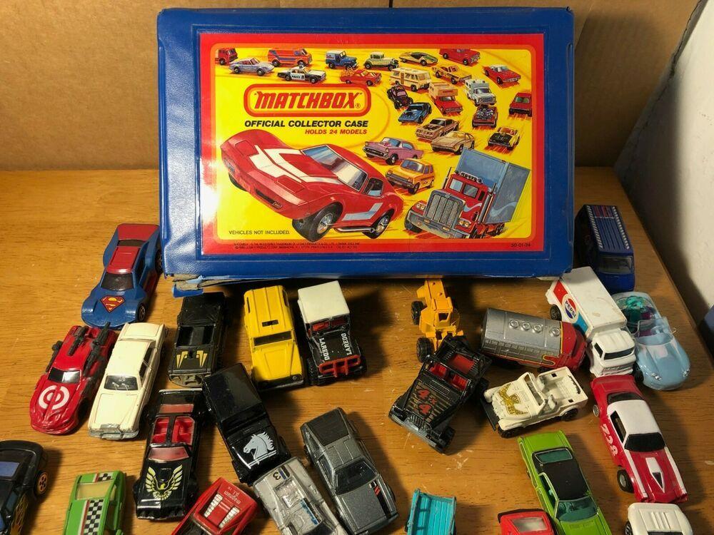 Vintage 1980 Lesney Matchbox 24 Car Diecast Collectors