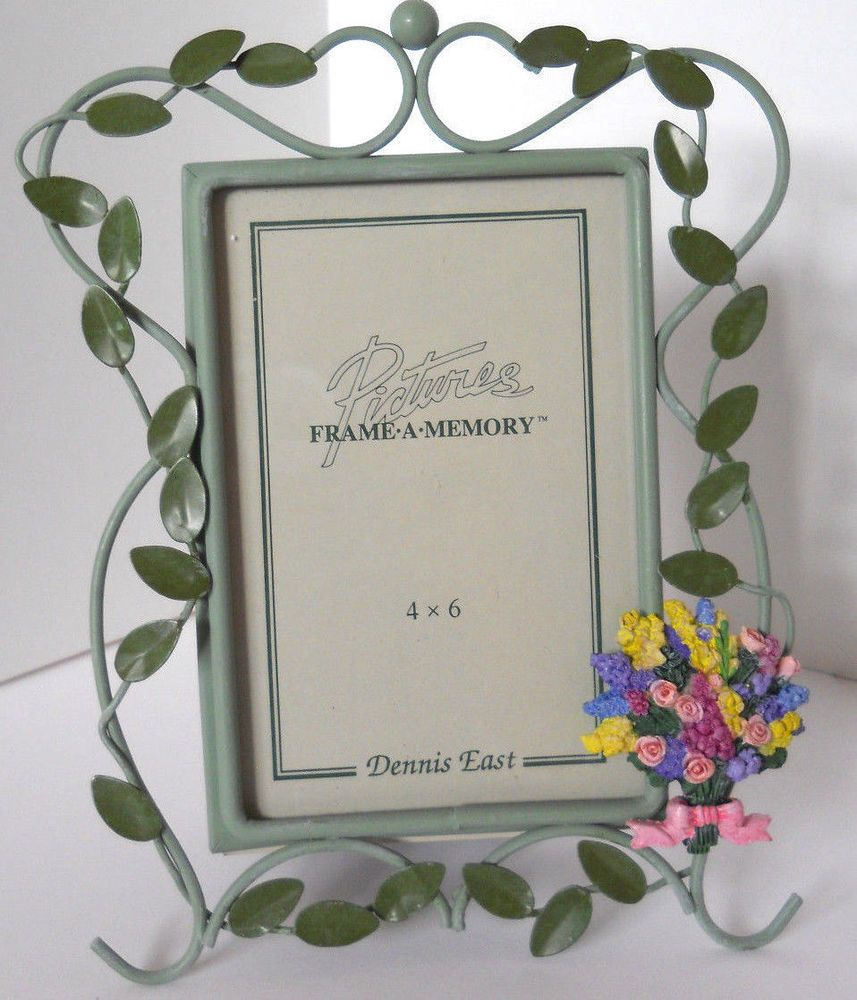 Frame tabletop green trailing leaves flower bouquet 4x6 photo #DennisEast #Cottage