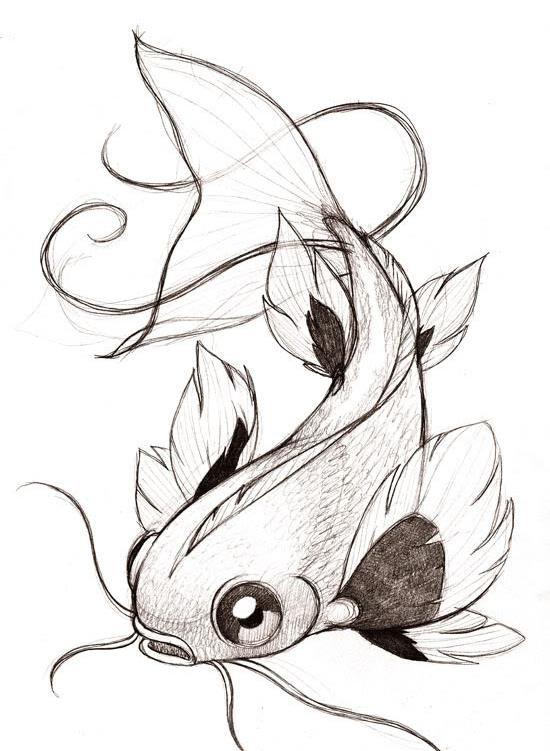 Dessin en couleurs imprimer animaux poisson num ro - Croquis poisson ...