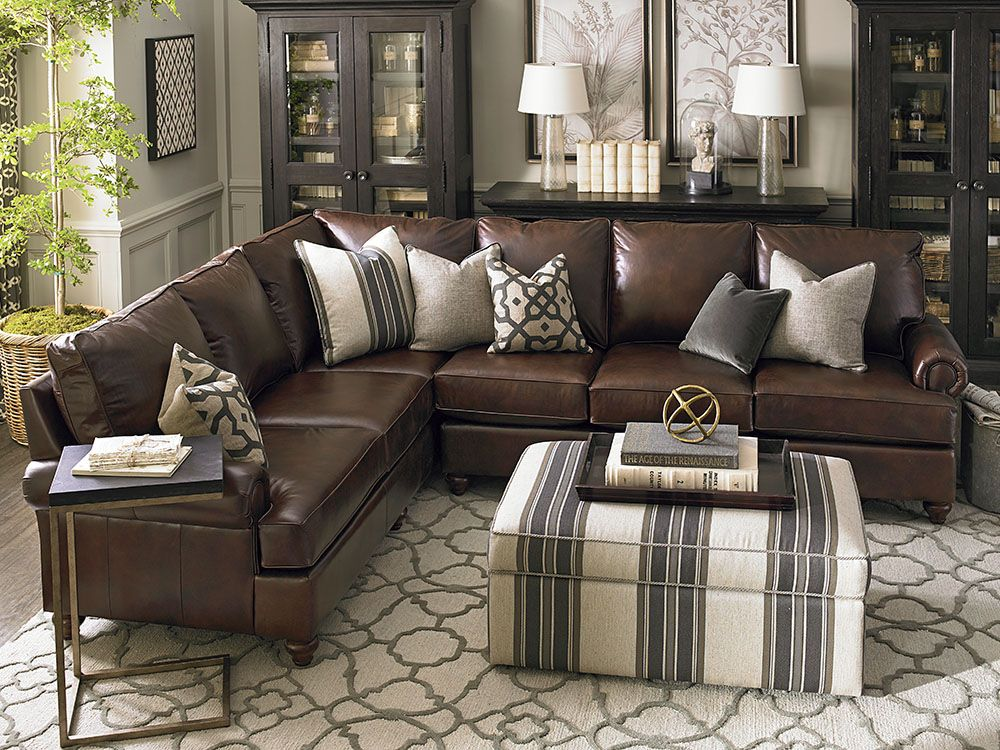 leather living room with sectional ideas American Casual Montague Large L-Shaped Sectional in 2019