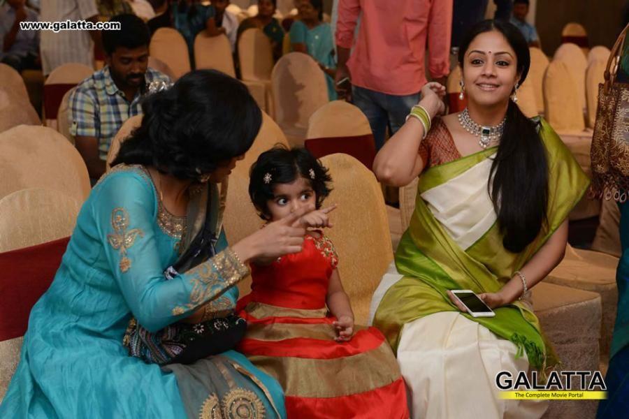 Jyothika Mehndi Ceremony : Jyothika and family at sr prabhu wedding reception my
