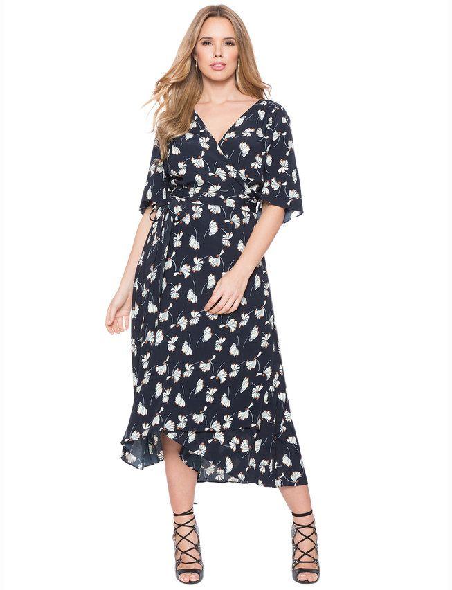 62b9a09a060c Circle Sleeve Wrap Dress from eloquii.com | Dresses for Tina ...