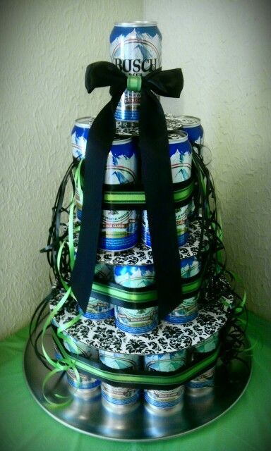 30 Beers For 30 Years Beer Cake that I made for my boyfriends 30th