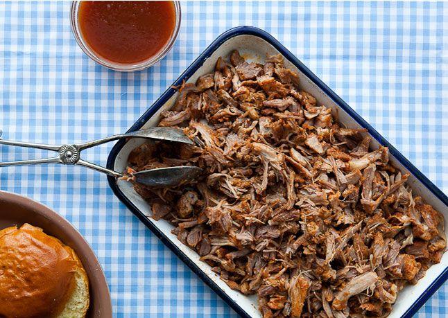 North Carolina Style Pulled Pork With Vinegar Sauce Bon Appe