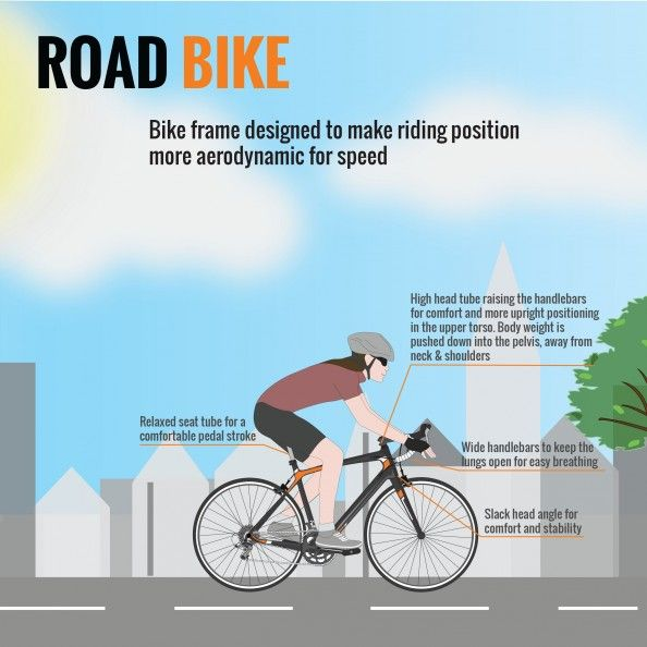 Anatomy Of A Bicycle Part Ii Road Bikes Infographic Cycling