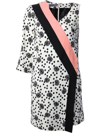 EMANUEL UNGARO Geometric Print Wrap Dress